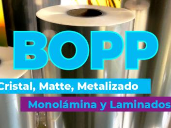 BOPP para envasado Flowpack